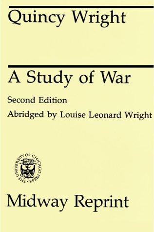 A Study of War 9780226910017