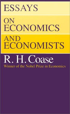 Essays on Economics and Economists 9780226111032