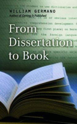 From Dissertation to Book 9780226288468