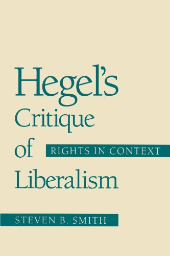 Hegel's Critique of Liberalism: Rights in Context 9780226763507