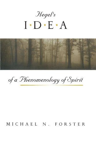 Hegel's Idea of a Phenomenology of Spirit 9780226257426