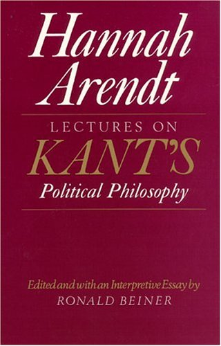 Lectures on Kant's Political Philosophy 9780226025957