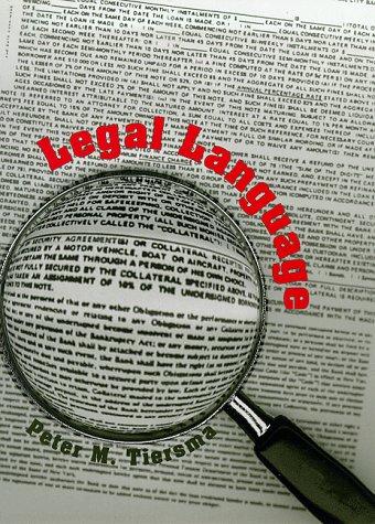 Legal Language 9780226803029