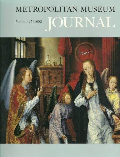 Metropolitan Museum Journal, Volume 27 9780226521244