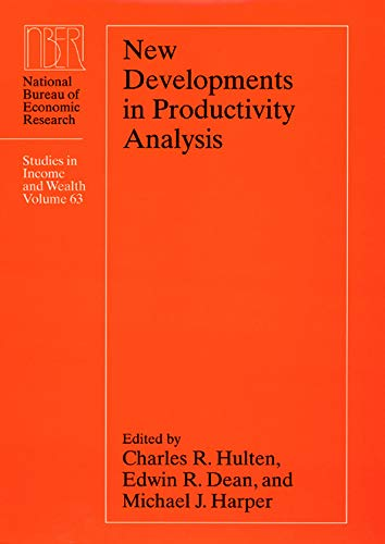 New Developments in Productivity Analysis 9780226360621