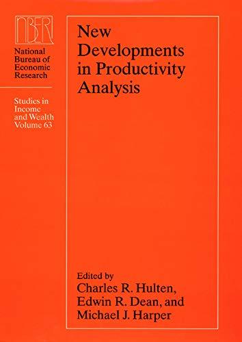 New Developments in Productivity Analysis 9780226360621