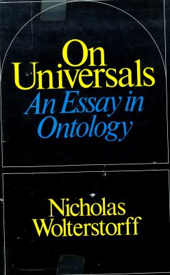 On Universals: An Essay in Ontology 9780226905655