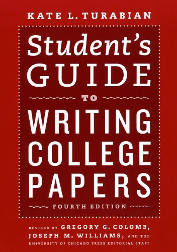 Student's Guide to Writing College Papers 9780226816319