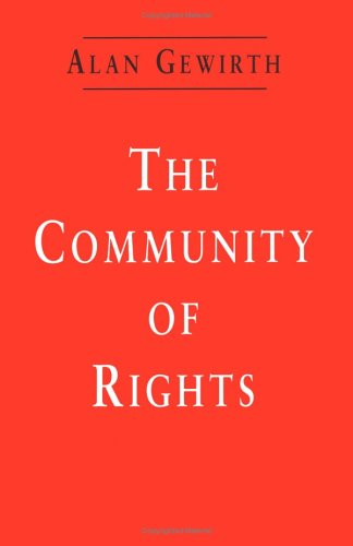 The Community of Rights 9780226288819