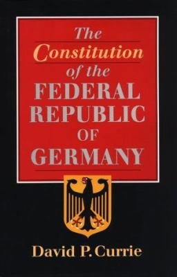 The Constitution of the Federal Republic of Germany 9780226131139