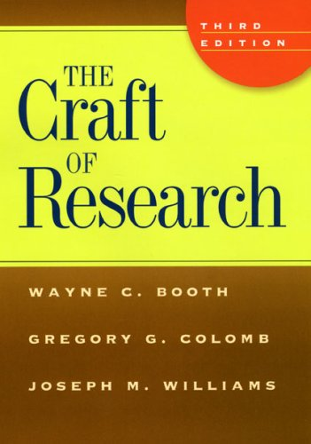 The Craft of Research 9780226065656