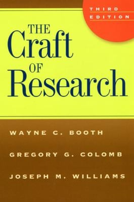 the craft of research by wayne c booth gregory g colomb
