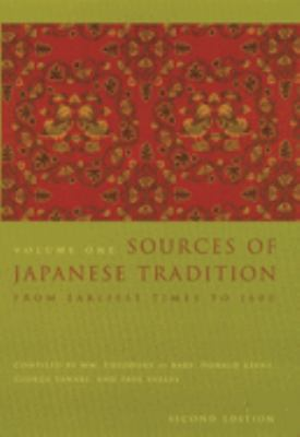Sources of Japanese Tradition: Volume 1: From Earliest Times to 1600 9780231121392