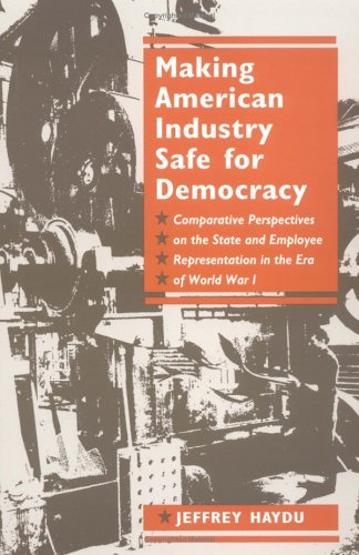 Making American Industry Safe for Democracy: Comparative Perspectives on the State and Employee Representation in the Era of World War I 9780252066283