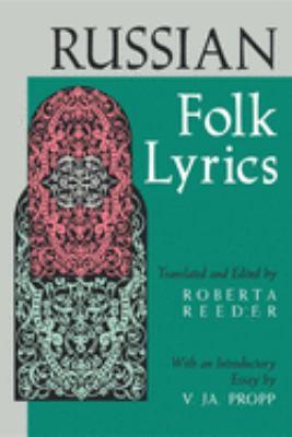 Russian Folk Lyrics 9780253207494