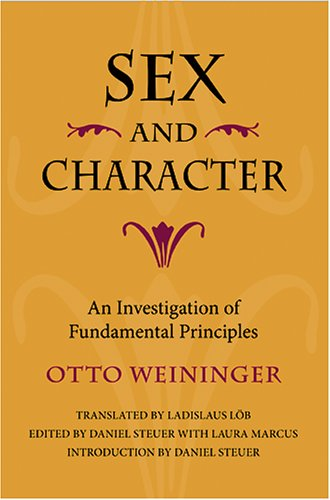 Sex and Character: An Investigation of Fundamental Principles 9780253344717