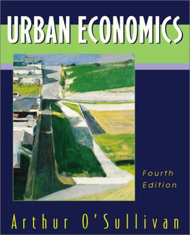 Urban Economics 9780256263312