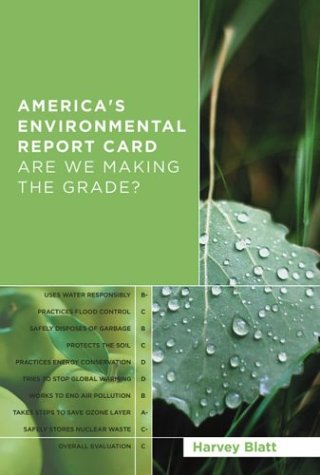 America's Environmental Report Card: Are We Making the Grade? 9780262025720