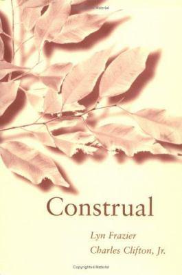 Construal 9780262061797