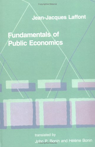 Fundamentals of Public Economics 9780262121279