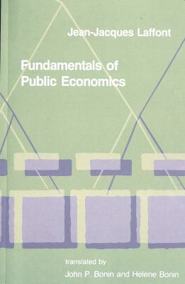 Fundamentals of Public Economics 9780262512190