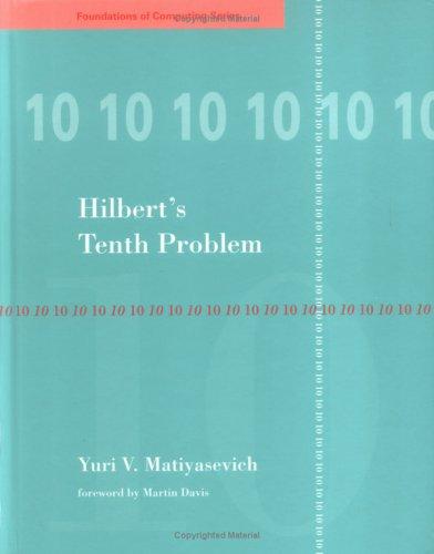 Hilbert's 10th Problem 9780262132954