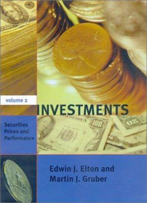Investments - Vol. II: Securities Prices and Performance 9780262050609