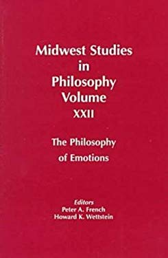 Midwest Studies Phil V 22: Philosophy of Emotions 9780268014445