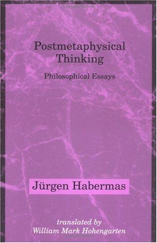 Postmetaphysical Thinking 9780262581301