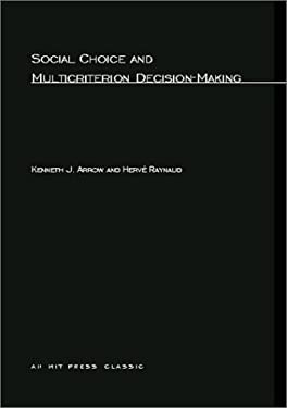 Social Choice and Multicriterion Decision-Making 9780262511759