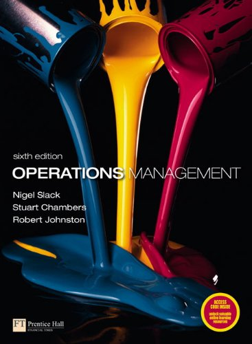 Operations Management 9780273730460