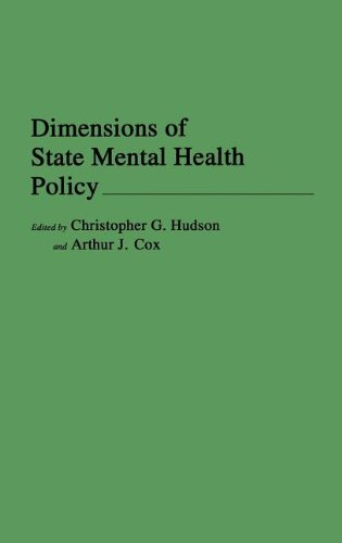Dimensions of State Mental Health Policy 9780275932527