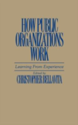How Public Organizations Work: Learning from Experience 9780275933876