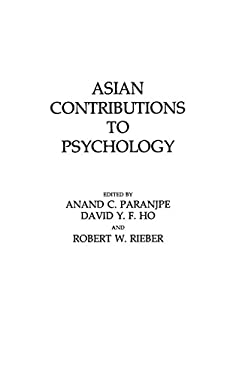 Asian Contributions to Psychology 9780275925246