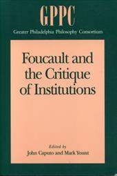 Foucault and the Critique of Institutions discount price 2016