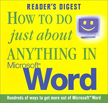 How to Do Anything/Microsoft Word 9780276425882