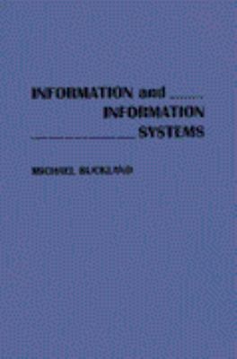 Information and Information Systems 9780275938512