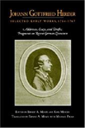 Johann Gottfried Herder: Selected Early Works, 1764 - 1767 809270