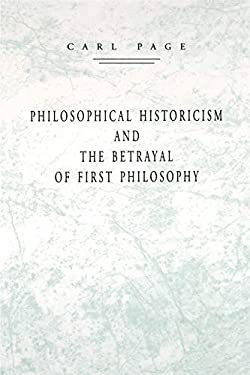 Philosophical Historicism 9780271013305