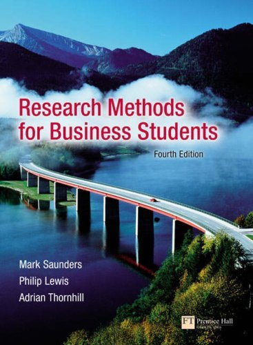 Research Methods for Business Students 9780273701484