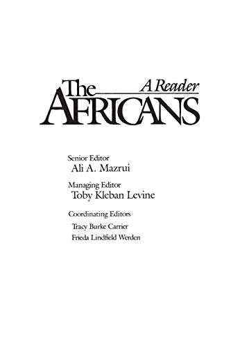 The Africans: A Reader 9780275920739