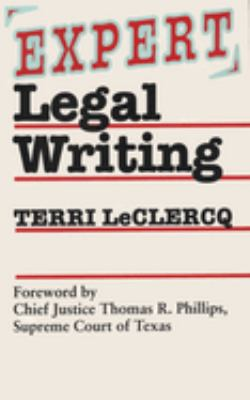 Expert Legal Writing 9780292746886