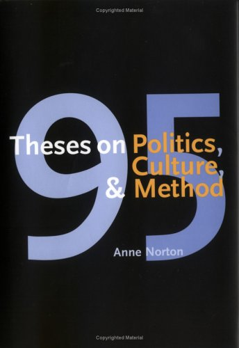 95 Theses on Politics, Culture, and Method 9780300100112
