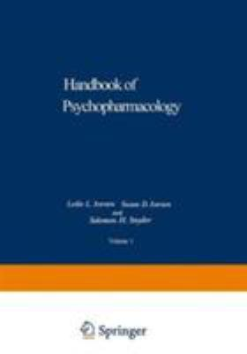 Handbook of Psychopharmacology, Vol. 1: Biochemical Principles and Techniques in Nueropharmacology 9780306389214