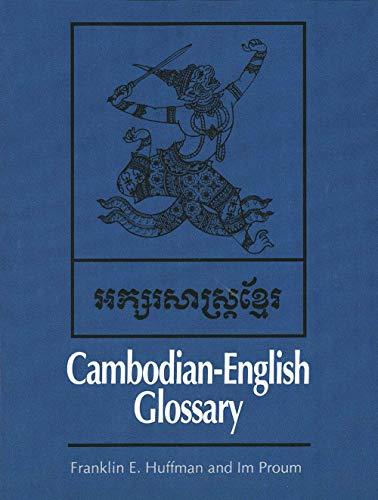 Cambodian-English Glossary 9780300020700