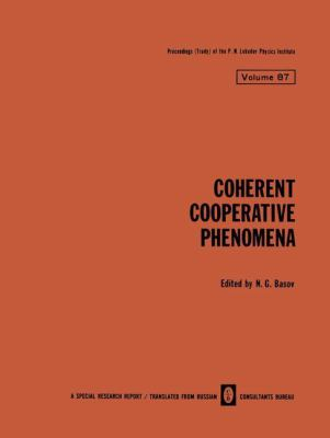 Coherent Cooperative Phenomena 9780306109454