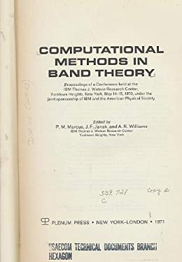Computational Methods in Band Theory 9780306305207