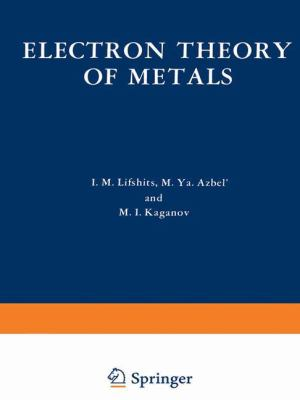 Electron Theory of Metals 9780306108730