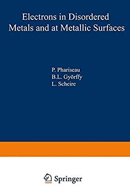 Electrons in Disordered Metals and at Metallic Surfaces 9780306401701