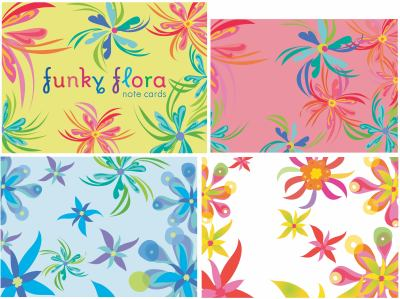 Funky Flora Small Note Cards 9780307236128